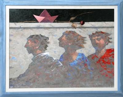IL VIAGGIO DELLE TRE OMBRE _ Olio su tavola cm.80 x 60 Anno 2005 - Gianpaolo Talani - Livorno