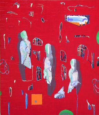 LA VOLONTA' DELLA COMETA Tecnica mista su tele cm. 210 x 180 Anno 2001 - Ariel Soulè _ Buenos Aires (ARGENTINA)