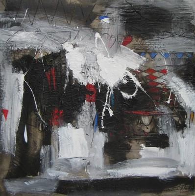 MOMENTI DI VITA tec. Polimaterica cm. 100 x 100 Anno 2008 - Diego Palasgo _ Venezia