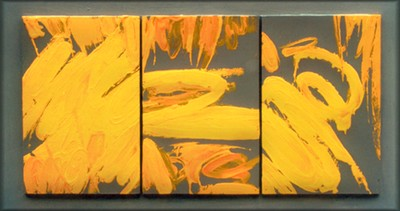 Alessandro Parisi - GIALLO tec. Mista su tavola cm. 83 x 60