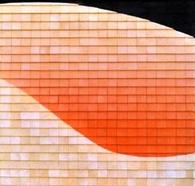 DANZA ROSA n°4 Mosaico in legno cm. 100 x 100 anno 2004 - Stefano Lenner - Roma (2)